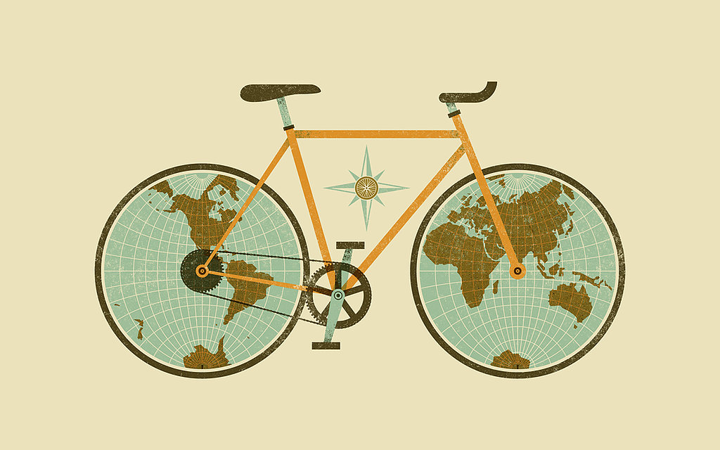 Traveling Bike by Jude Landry