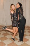 Stacy Keibler had a ball with Rachel Roy inside the Met Gala in NYC. Source: Billy Farrell/BFANYC.com