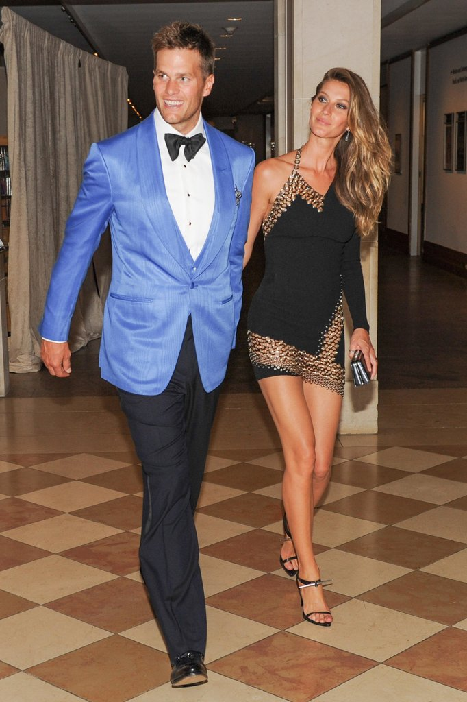 Tom Brady and Gisele Bündchen looked flawless before heading into the Met Gala dinner party.  Source: Billy Farrell/BFANYC.com