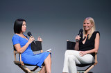 Gwyneth Paltrow chatted about her new Goop app with pal Jessica Seinfeld at the Apple store in SoHo.