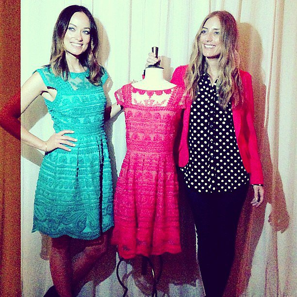 Olivia Wilde attended a launch party for her new collection with pal Barbara Burchfield.  Source: Instagram user psimadethis