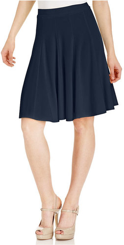 INC International Concepts Skirt, A-Line Knit-Jersey