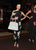 Miranda Kerr wore a floral onesie for a screening of The Great Gatsby.