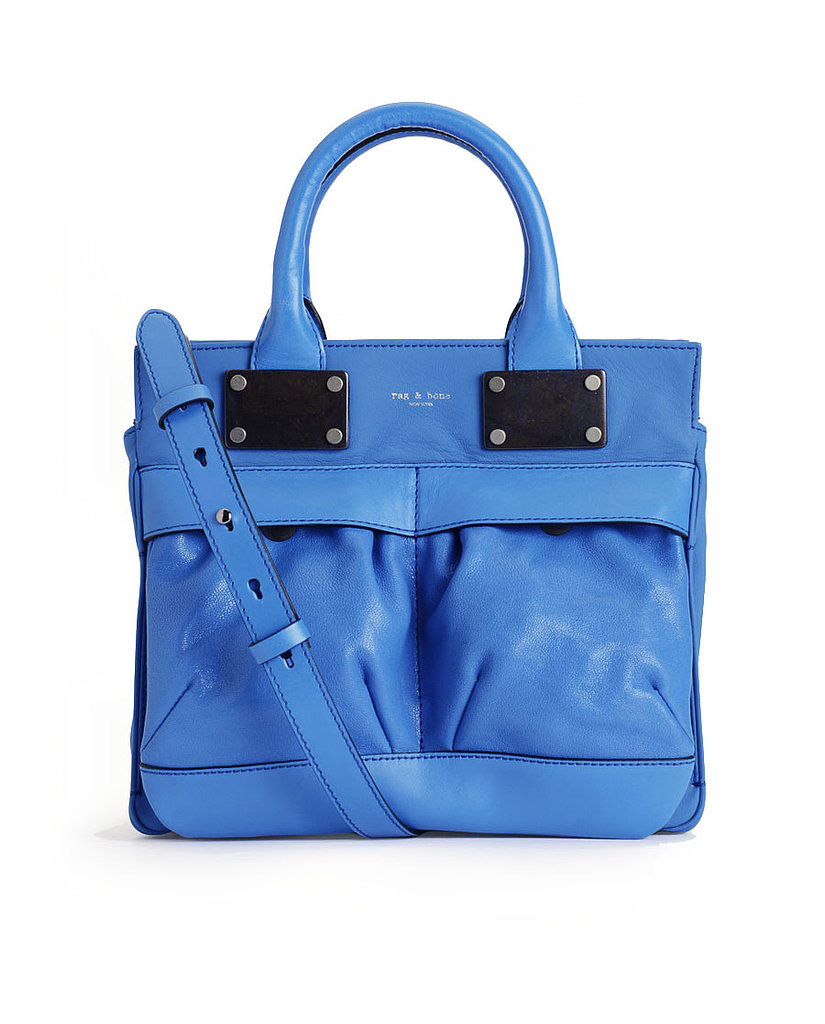 One of the best parts of being in the market for blue? The endless varieties. We fell hard for the almost-neon quality of Rag & Bone's cornflower tote ($725).