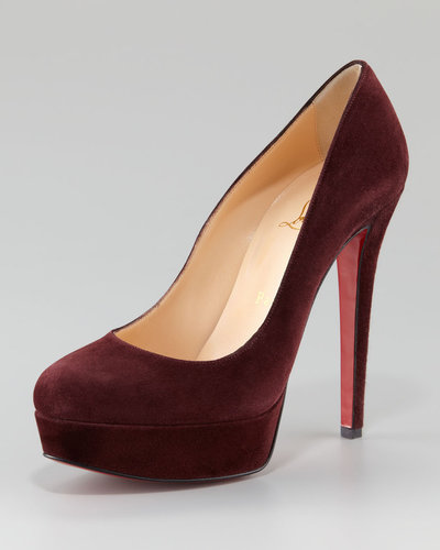 Christian Louboutin Bianca Suede Platform Red Sole Pump