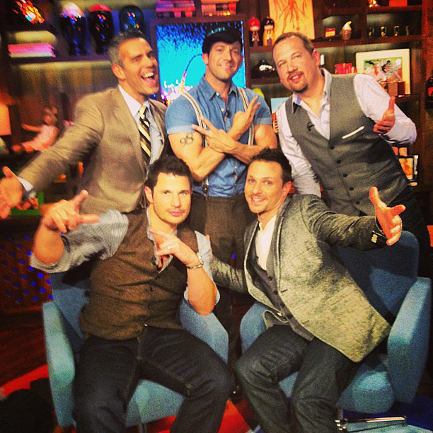 98 Degrees showed up on Watch What Happens Live. Source: Instagram user bravoandy