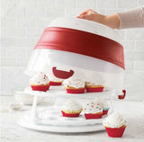 Collapsible Cake and Cupcake Carrier