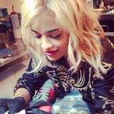 Rita Ora Gets A New Dove Tattoo