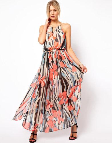 Oasis Chiffon Floral Print Maxi Dress