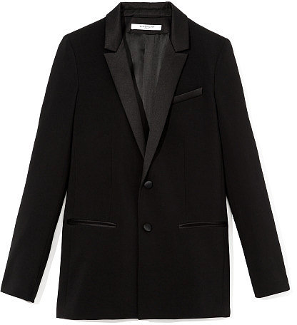 Givenchy Silk Cady Single Breasted Blazer