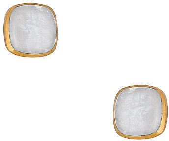 Julie Vos Gold and Moonstone Carly Earrings