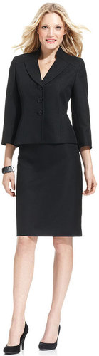 Evan Picone Suit, Stand-Collar Jacket & Pencil Skirt