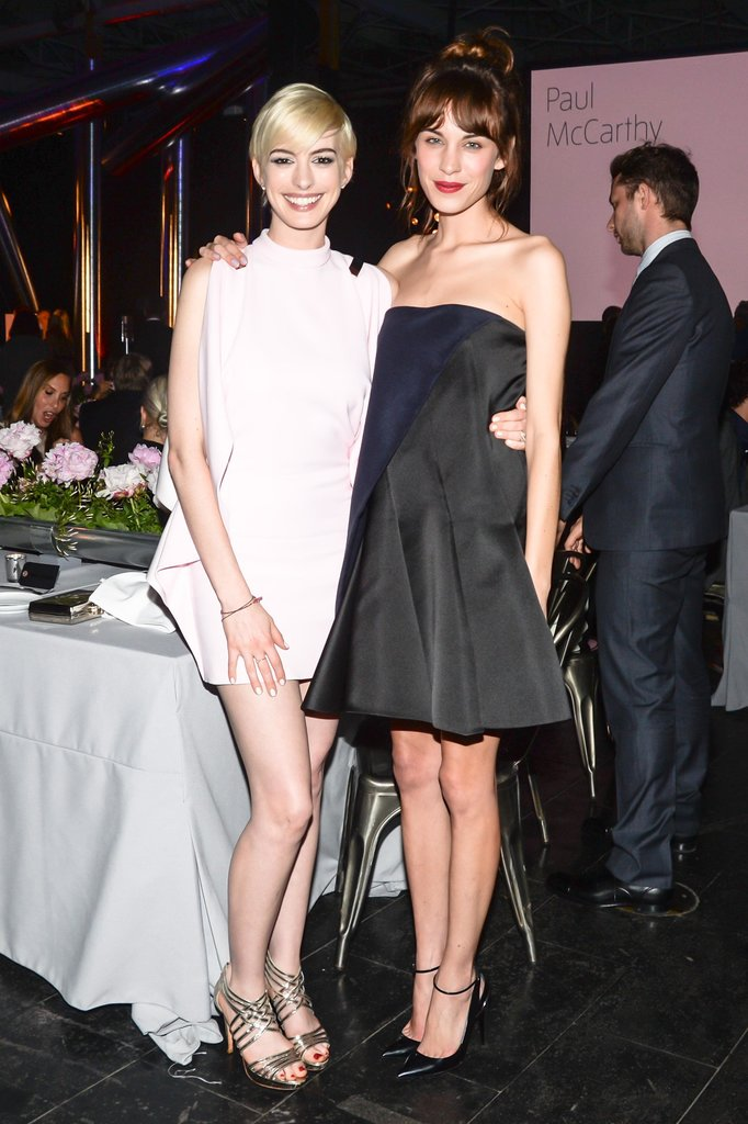 Anne Hathaway met up with Alexa Chung. Source: Joe Schildhorn /BFAnyc.com