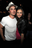 Nina Dobrev and Ian Somerhalder were friendly costars when they attended The CW's May 2009 upfront party for The Vampire Diaries.