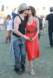 Ian Somerhalder planted a smooch on Nina Dobrev when they attended Coachella in April 2012.