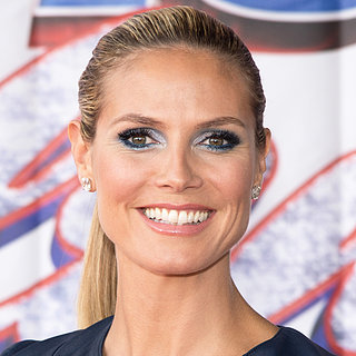 Get Heidi Klum's Icy Blue Eye Makeup Style