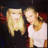 Rachel Zoe posed with a fresh-faced Karolina Kurkova. Source: Instagram user rachelzoe