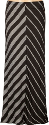FULL TILT Mitered Stripe Maxi Skirt