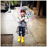 Harper Smith was prepared for downpours after arriving back in NYC. Source: Instagram user tathiessen