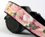 Vintage Roses Camera Strap