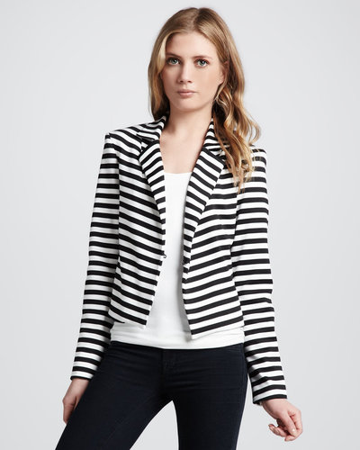 Robbi &amp; Nikki Striped Knit Blazer