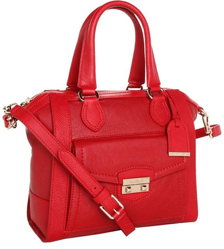 Cole Haan - Zoe Small Structured Satchel (Tango Red) - Bags and Luggage