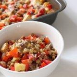 Lentil and Red Pepper Bake Recipe