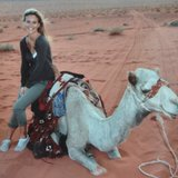 While on location, Bar Refaeli got up close and personal with a camel. Source: Instagram user barrefaeli