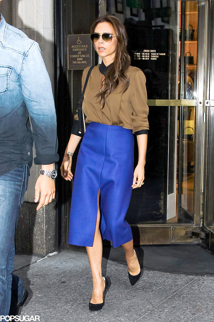 Victoria Beckham went shopping at Bergdorf Goodman in NYC.