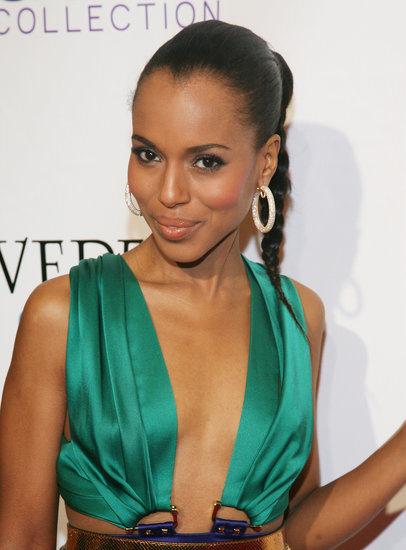 At the Mary J. Blige Honors Concert, Kerry wore a casual braided ponytail that's perfect for an evening of dancing.