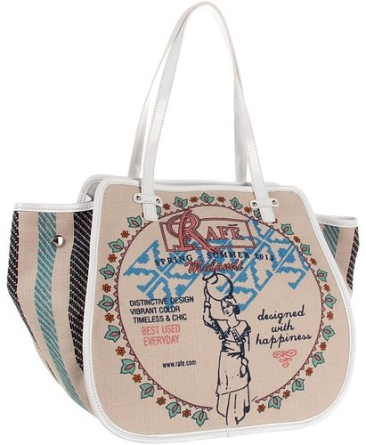 Rafe New York - Mercado Tote (White) - Bags and Luggage