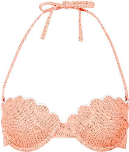 Tangerine Scallop Bikini Top