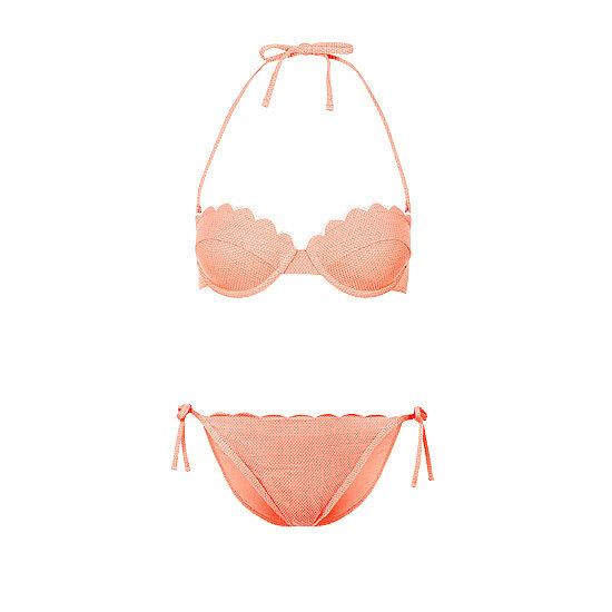 Topshop's Scallop Bikini Top ($36) and Bikini Pants ($24) are the ultimate in girlie, '60s-style beachwear.