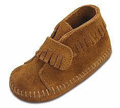 Minnetonka Infant Velcro Strap Bootie