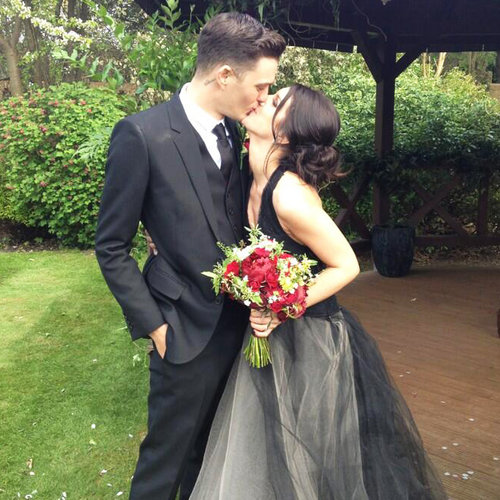 Shenae Grimes Black Wedding Dress