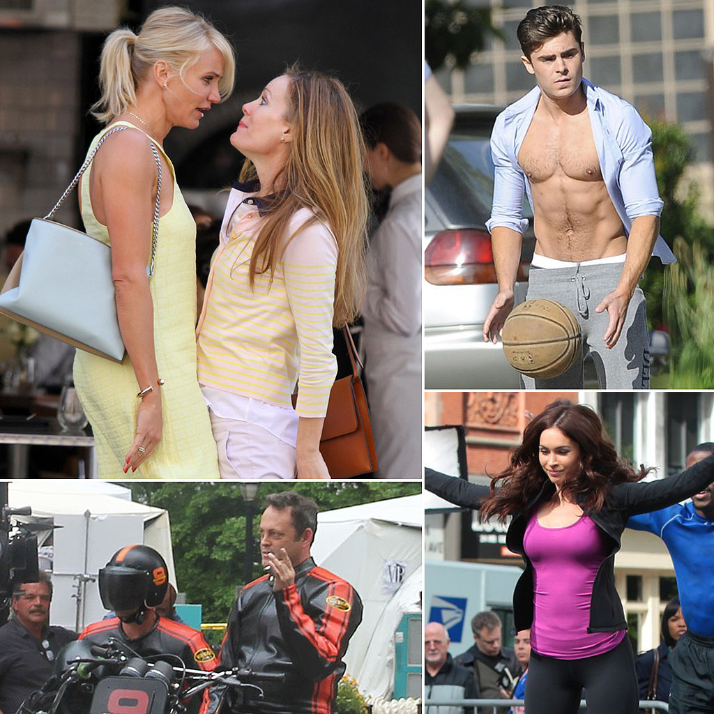 Zac Efron, Cameron Diaz, Vince Vaughn, and More Stars on Set