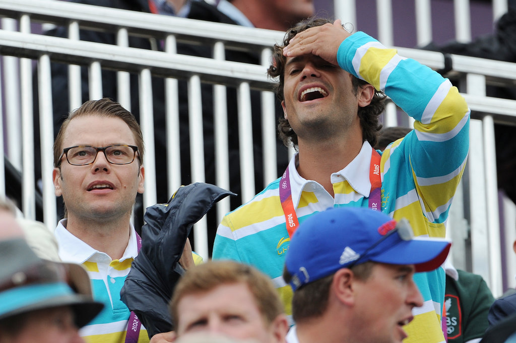 Prince Carl Philip went casual for the 2012 London Olympics.