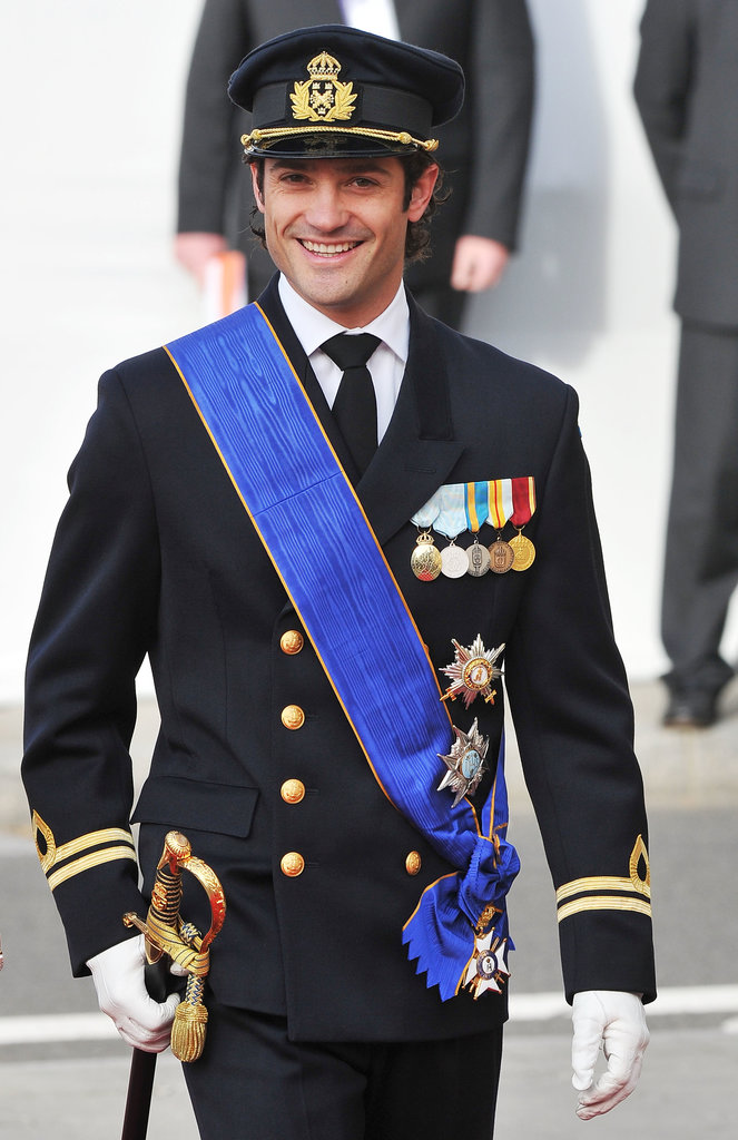 Prince Carl Philip flashed a big grin in October 2012.