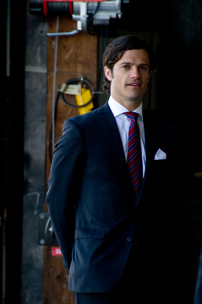 The prince looked mysterious in the shadows while hosting British dignitaries in Stockholm, Sweden, in 2012.