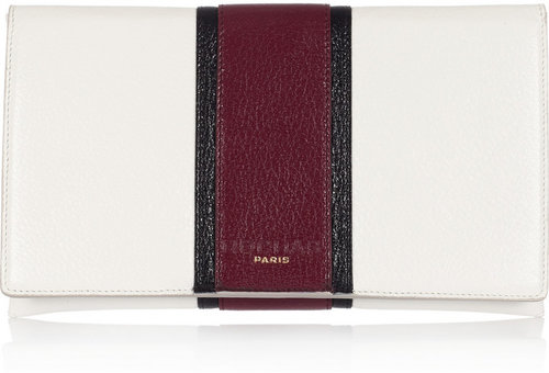 Rochas Textured-leather clutch