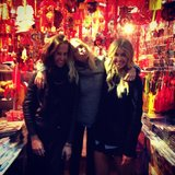 Lara Bingle hung out with fellow style-setters Tash Sefton and Elle Ferguson from They All Hate Us. Source: Instagram user mslbingle
