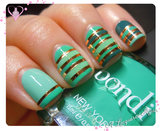 Striping Tape Mani with Bondi