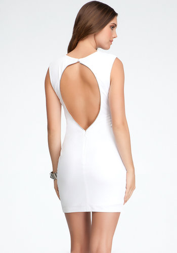 Exposed Back Knit Dress