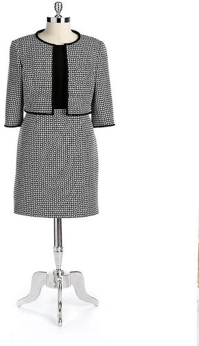 ANNE KLEIN NEW YORK Knit Flyaway Jacket Dress