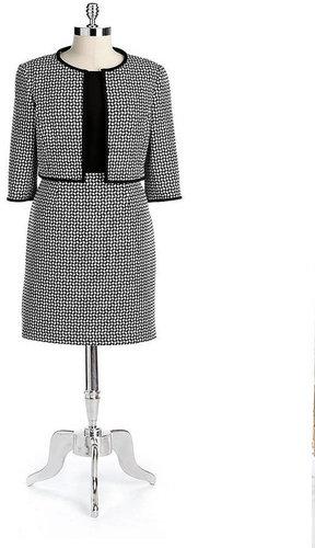 ANNE KLEIN NEW YORK Knit Flyaway Jacket Dress