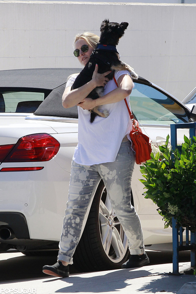 Kristen Bell took her dog out in LA.