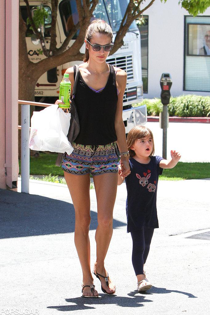 Alessandra Ambrosio and Anja Mazur ran errands in LA.