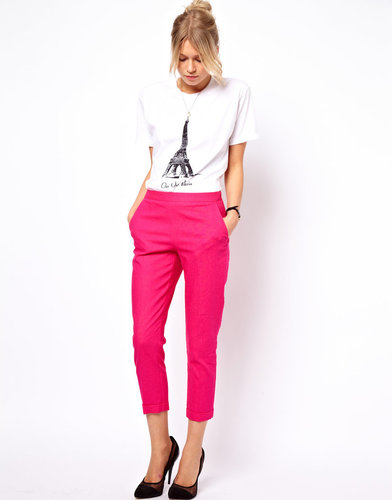 ASOS Crop Pants in Linen