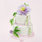 Purple Perfection Peony Cake