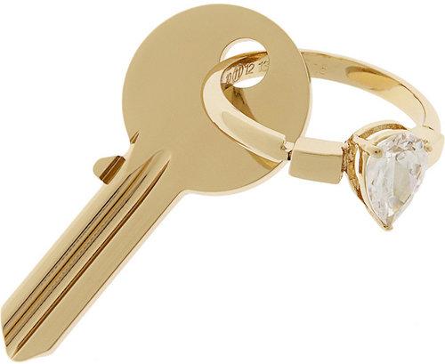 Maison Martin Margiela Gold-tone crystal key fob